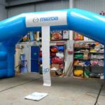 Mazda inflatable blue arch