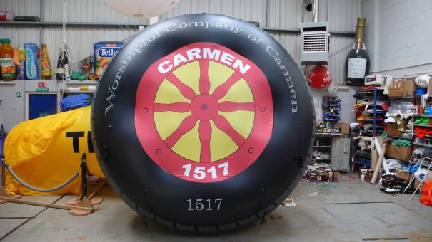 inflatable wheel for Lord Mayor's Show