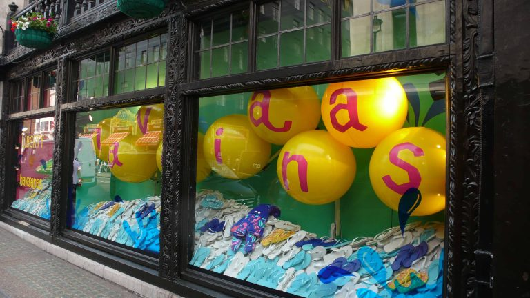 Inflatables in Liberty window