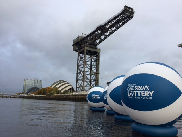 Scottish Lottery inflatables