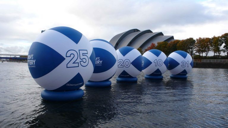 inflatable lottery balls