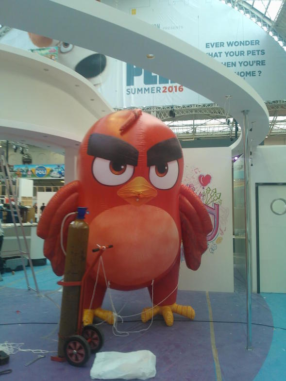 inflatable angry bird character