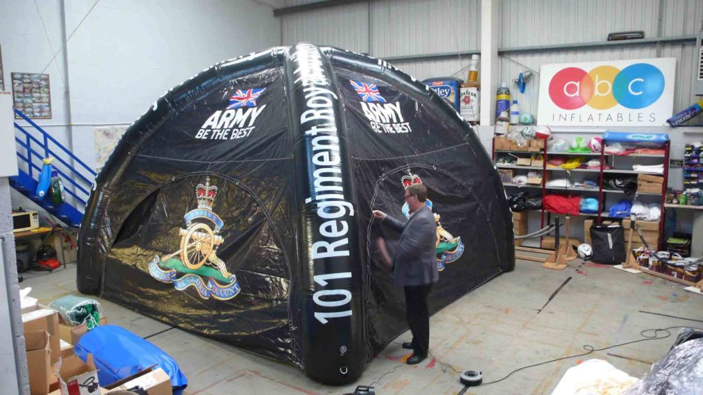 One of our ABC inflatable tents for the British Army