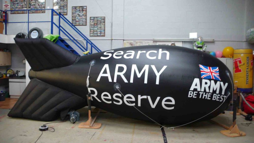 An ABC inflatable blimp made for the British Army