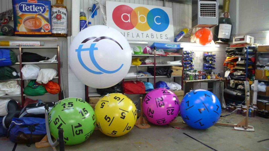 exhibition inflatables lotto balls in our workshop