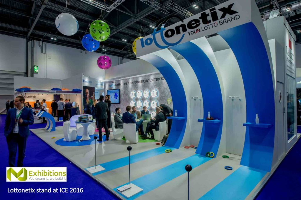 exhibition inflatables for Lottonetix in situ at exhibition