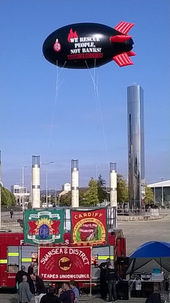 Fire Brigade Union Mini Blimp