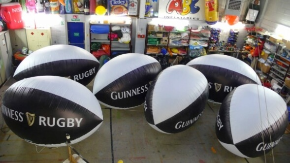 Guinness rugby balls