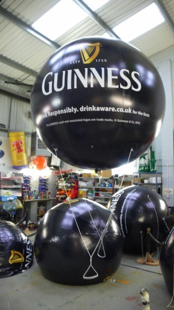 Giant Guinness inflatable balls