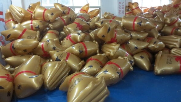 inflatable lindt gold bunnies