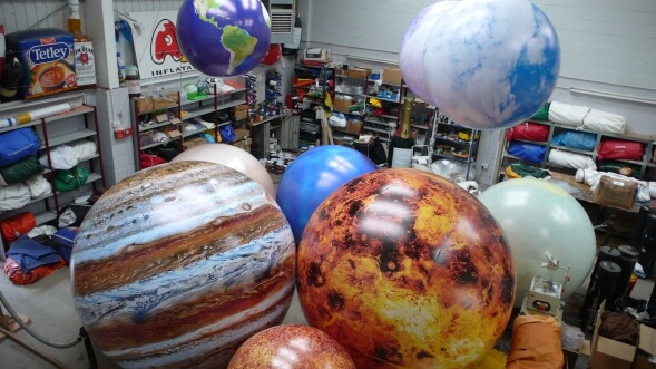 giant inflatable planet spheres