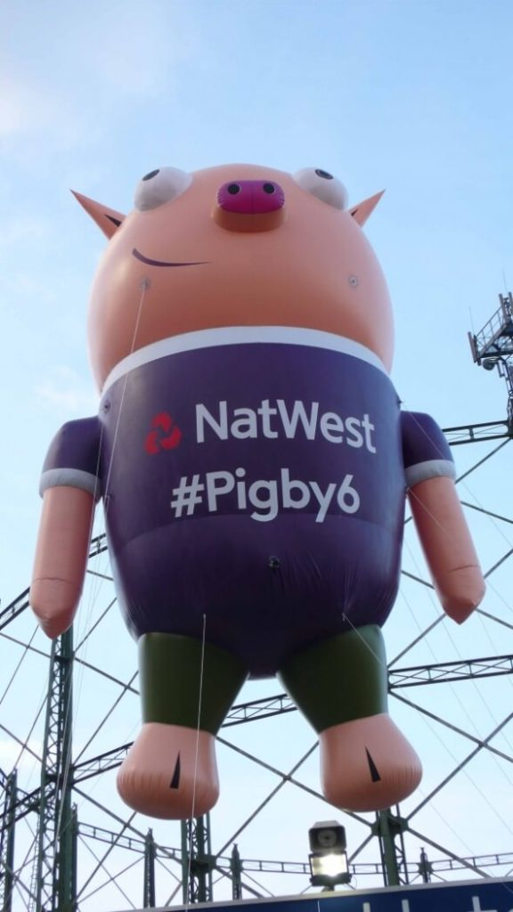 Closeup of inflatable pigby 6 from Natwest