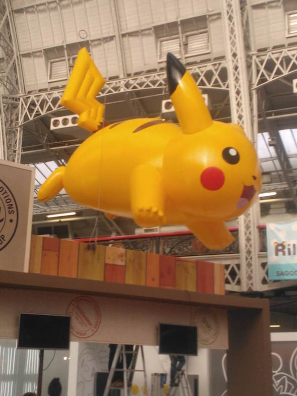 giant inflatable Pikachu character