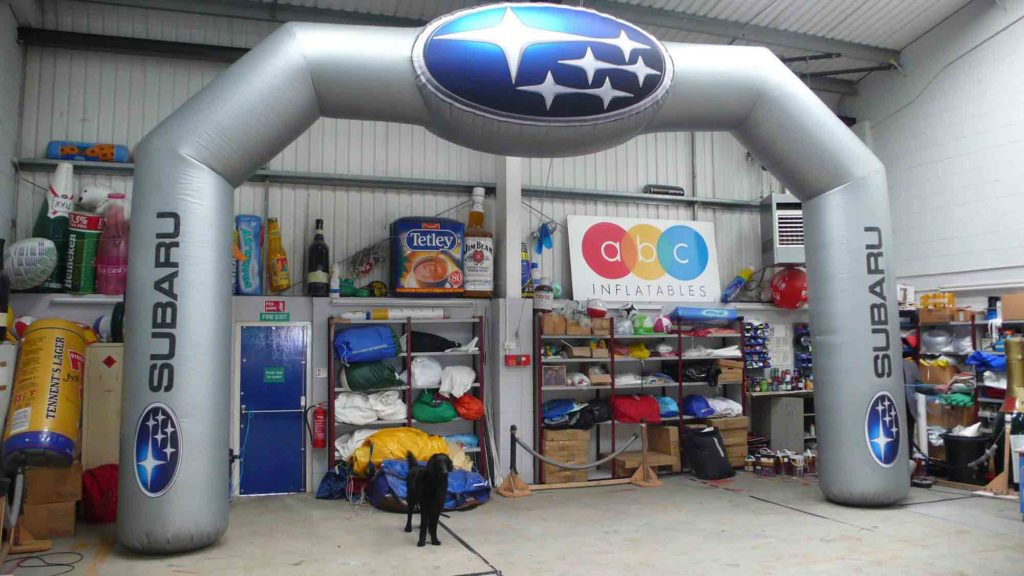 Subaru giant inflatable arches