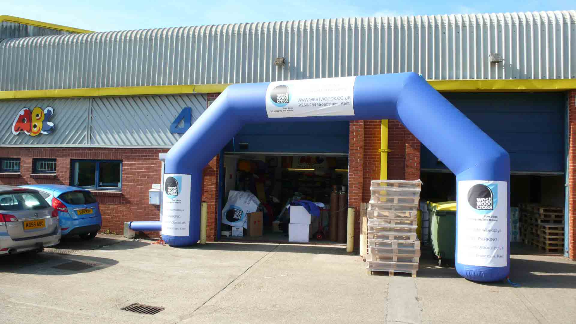Inflatable blue arch for rent