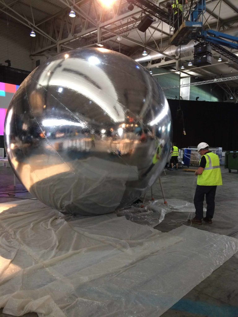 giant mirror ball inflatable sphere