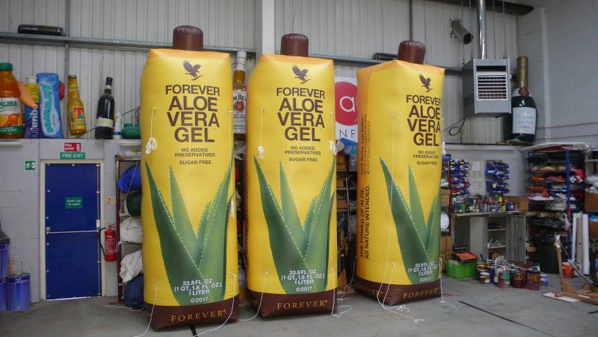 3 Forever Living tetra pak replica inflatables
