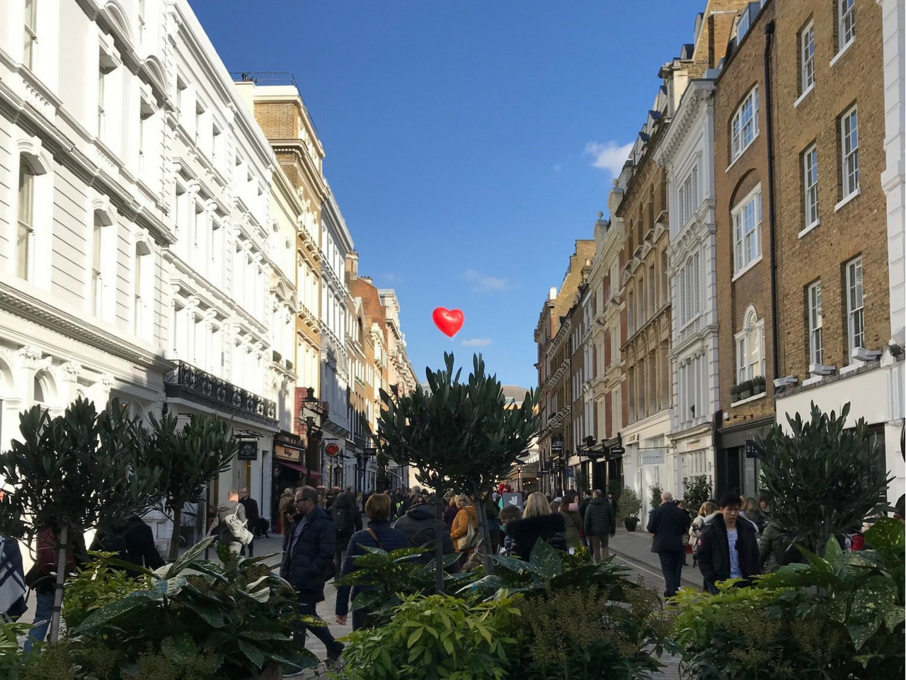 inflatable heart over Covent Garden