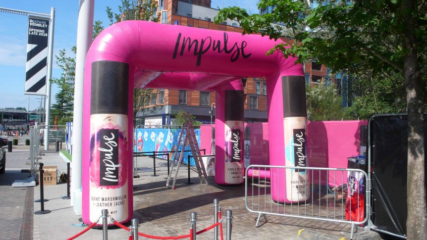 inflatable misting station in London
