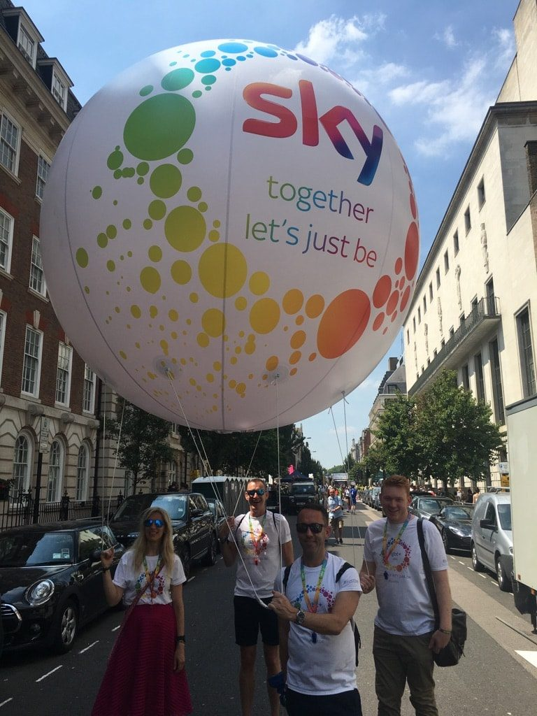 Parade inflatables sphere for SKY