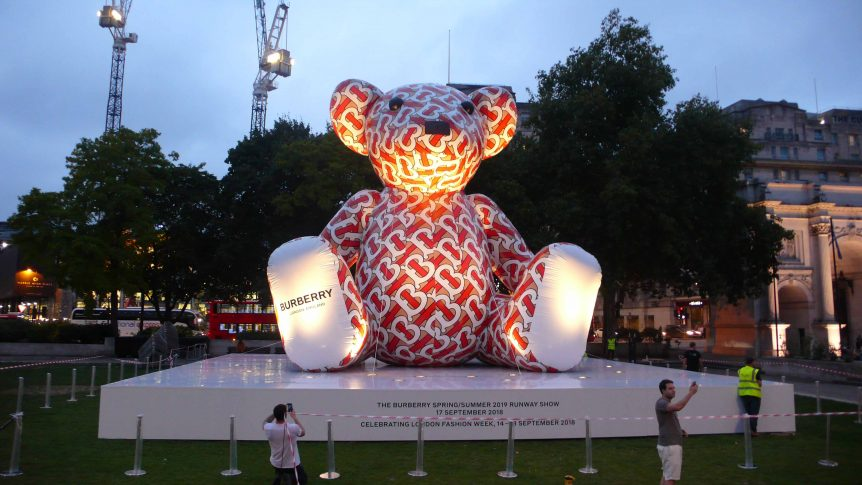 Burberry Bear inflatables in London