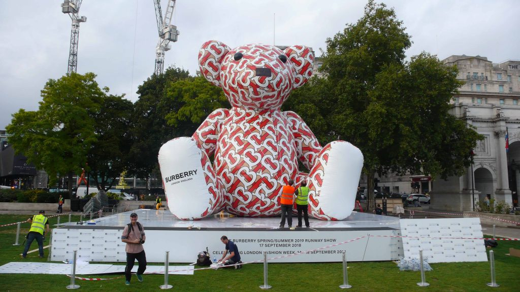 One of the Burberry Bear inflatables in London