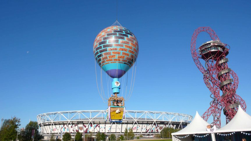 cadburys hot air balloon replica