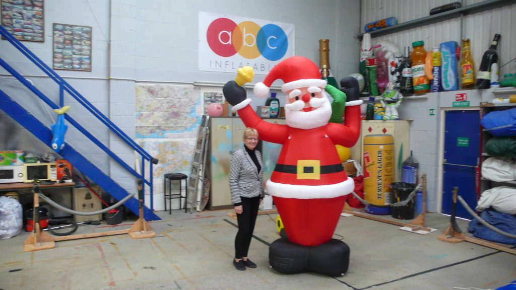 Inflatable Santa with Gill