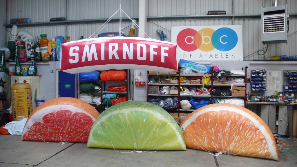 promotional inflatables for smirnoff