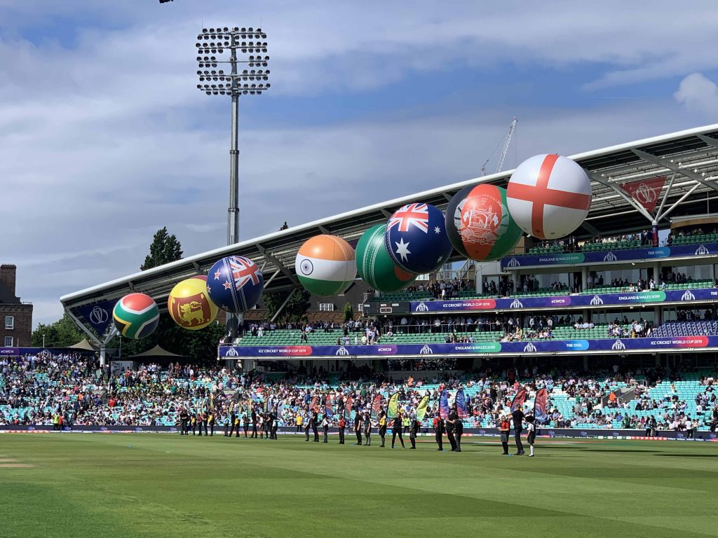 inflatable cricket balls at the Oval